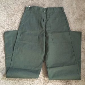 New Military Style Olive Green Color Men's Pants